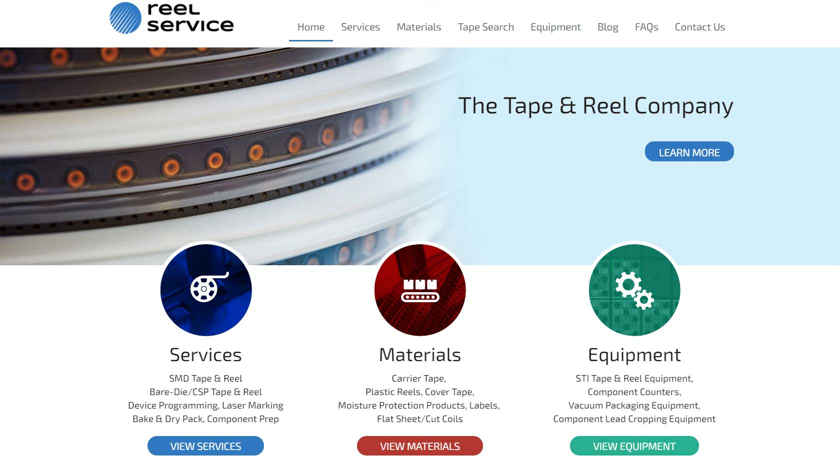 reelservice.com home page screen capture