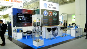 Reel Service Booth Productronica 2017