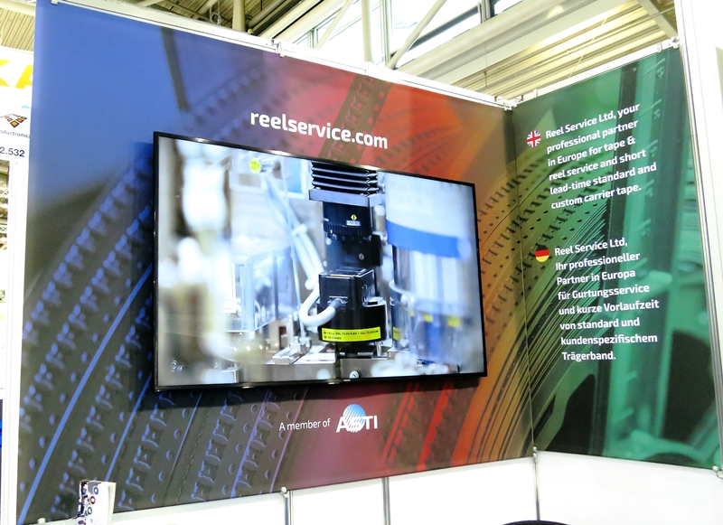 TV Screen Productronica Booth