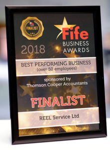 Fife Business Awards Finalist Certificate